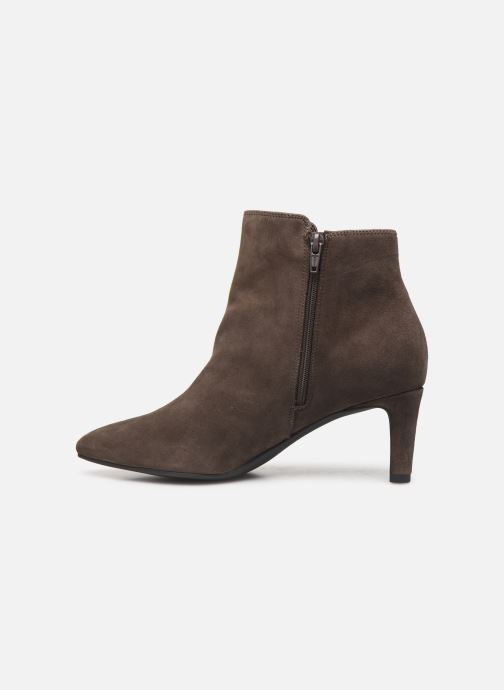 Ankle boots Clarks Calla Blossom Brown front view