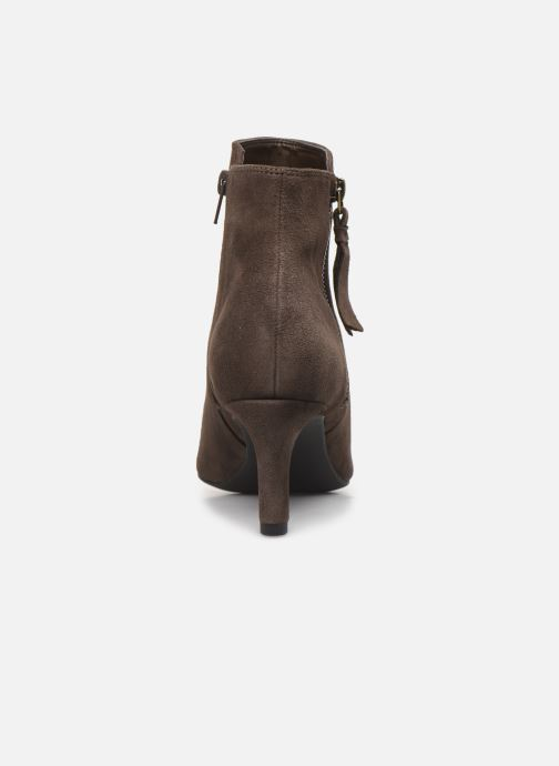 Ankle boots Clarks Calla Blossom Brown view from the right