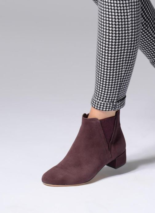 Bottines et boots Clarks Orabella Ruby Violet vue bas / vue portée sac