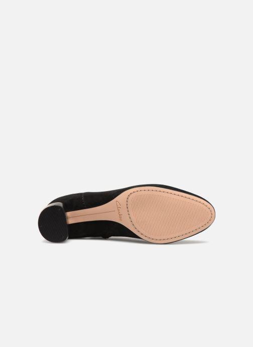 Bottines et boots Clarks Grace Bella Noir vue haut