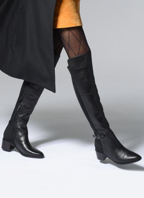 Stiefel Clarks Poise Orla schwarz ansicht von unten / tasche getragen