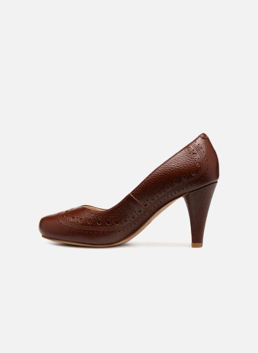 Zapatos de tacón Clarks Dalia Ruby Marrón vista de frente