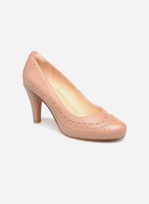 Høje hæle Clarks Dalia Ruby Beige detaljeret billede af skoene