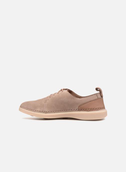 Chaussures à lacets Clarks Hale Lace. Beige vue face