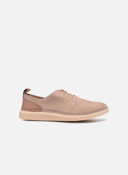 Chaussures à lacets Clarks Hale Lace. Beige vue derrière
