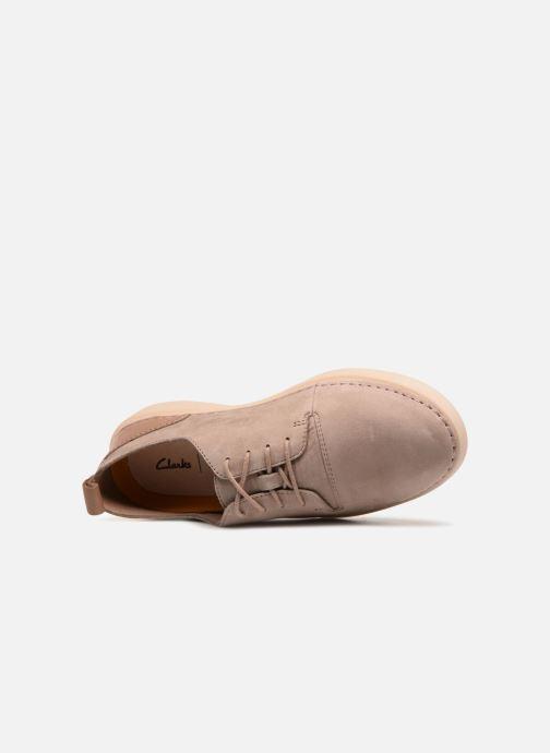 Chaussures à lacets Clarks Hale Lace. Beige vue gauche