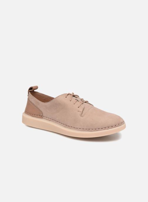 Chaussures à lacets Clarks Hale Lace. Beige vue détail/paire