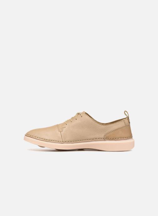 Snörade skor Clarks Hale Lace. Beige bild från framsidan