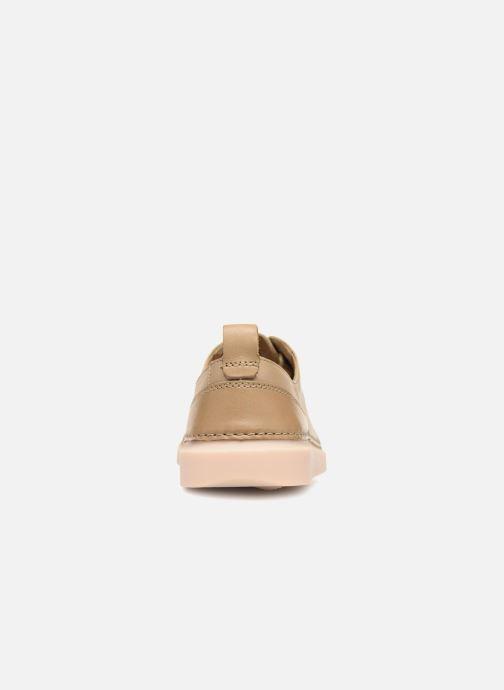 Zapatos con cordones Clarks Hale Lace. Beige vista lateral derecha