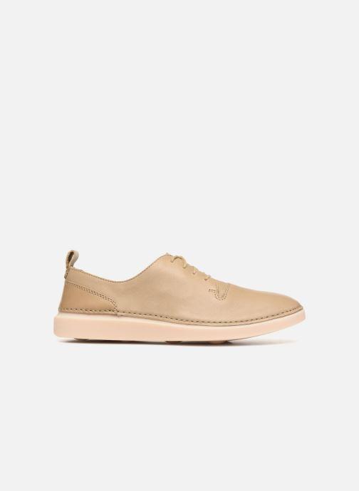 Zapatos con cordones Clarks Hale Lace. Beige vistra trasera