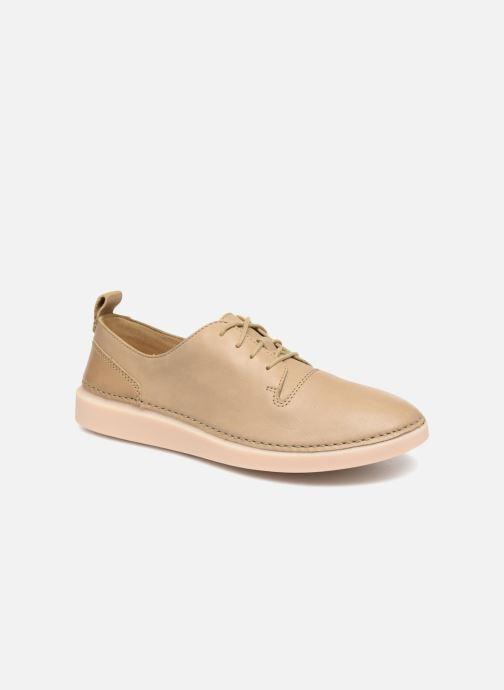 Snörade skor Clarks Hale Lace. Beige detaljerad bild på paret