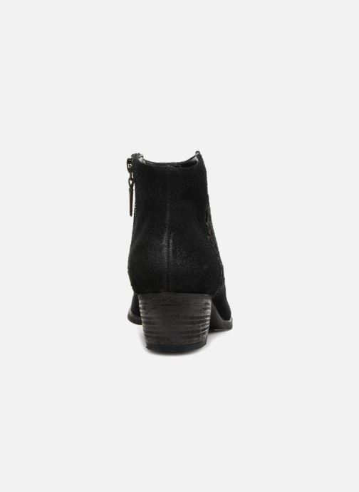 Ankle boots Clarks Maypearl Fawn Black view from the right