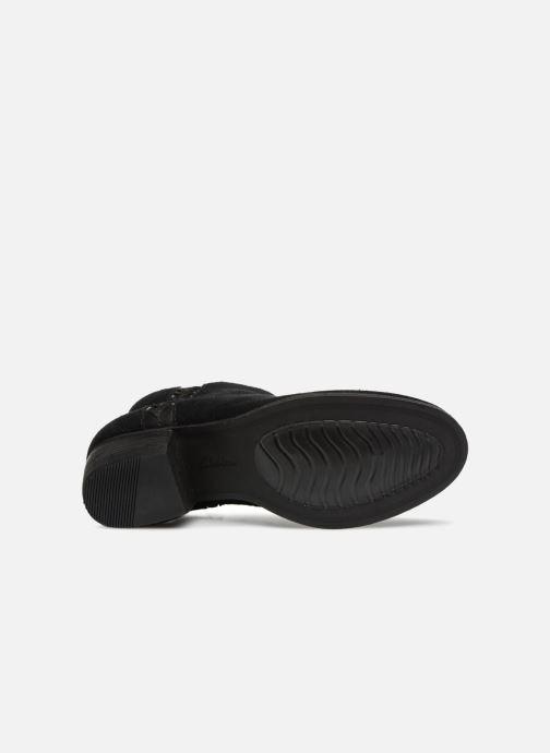 Bottines et boots Clarks Maypearl Fawn Noir vue haut