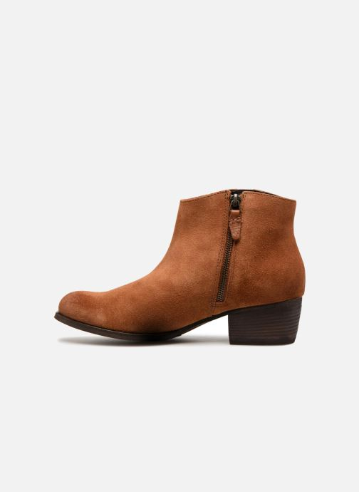 Boots en enkellaarsjes Clarks Maypearl Fawn Bruin voorkant