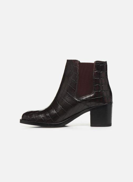 Bottines et boots Clarks Mascarpone Bay Bordeaux vue face