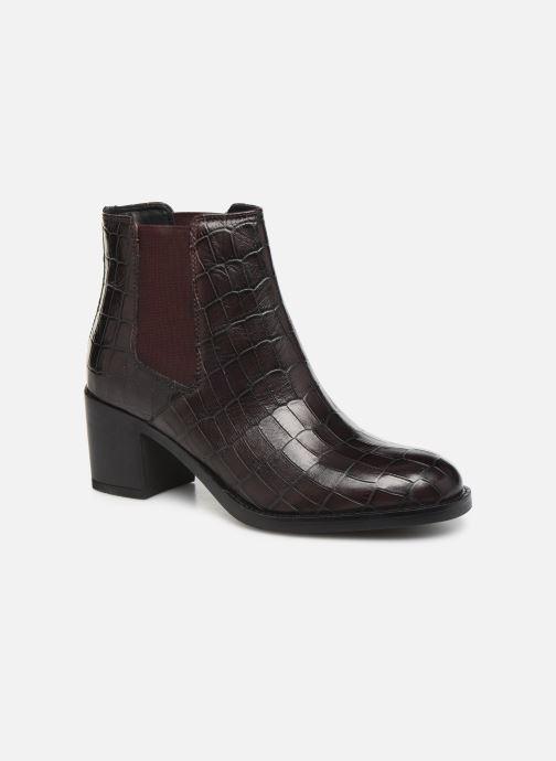 Bottines et boots Clarks Mascarpone Bay Bordeaux vue détail/paire
