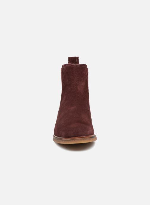 Bottines et boots Clarks Clarkdale Arlo Bordeaux vue portées chaussures
