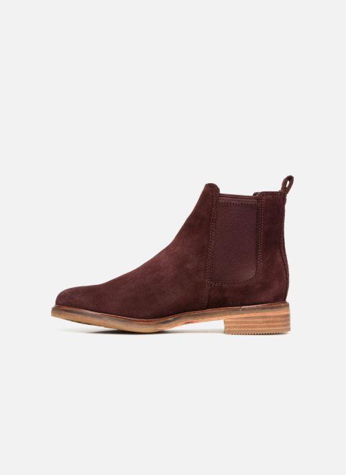 Bottines et boots Clarks Clarkdale Arlo Bordeaux vue face