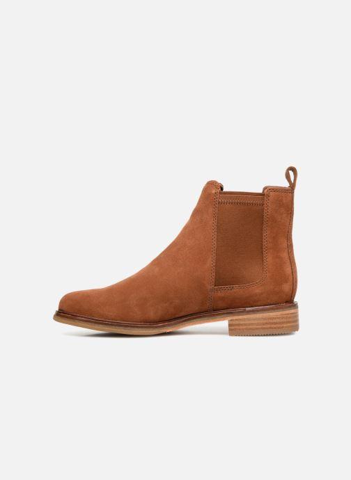 Boots en enkellaarsjes Clarks Clarkdale Arlo Bruin voorkant