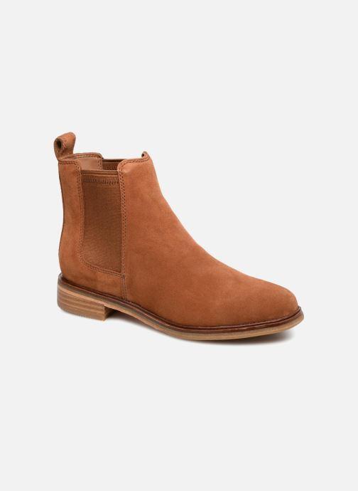 Boots en enkellaarsjes Clarks Clarkdale Arlo Bruin detail