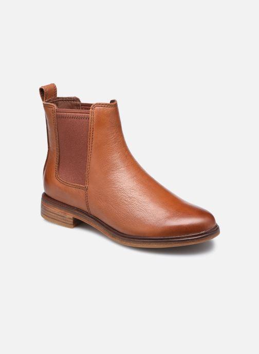 Ankelstøvler Clarks Clarkdale Arlo Brun detaljeret billede af skoene