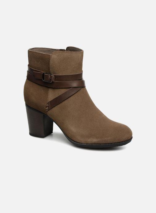 Bottines et boots Clarks Enfield Coco Marron vue détail/paire