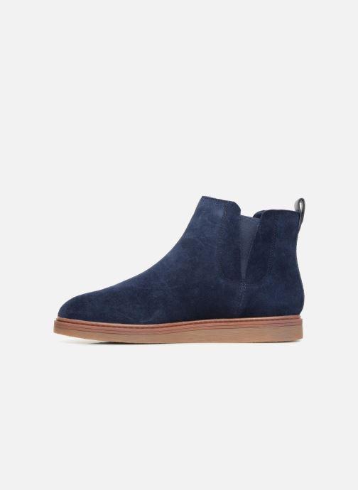 Bottines et boots Clarks Dove Madeline Bleu vue face