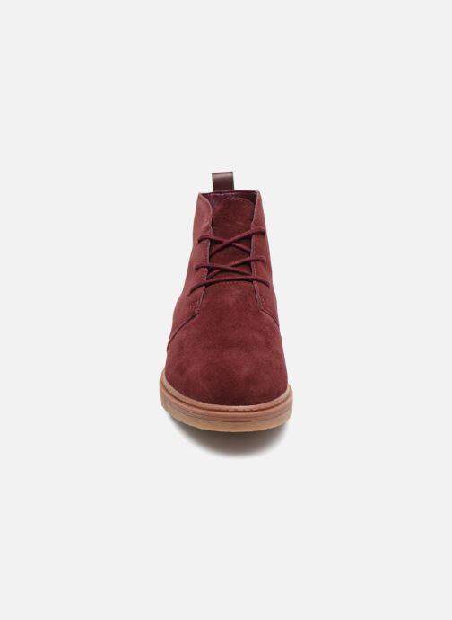 Bottines et boots Clarks Dove Roxana Bordeaux vue portées chaussures