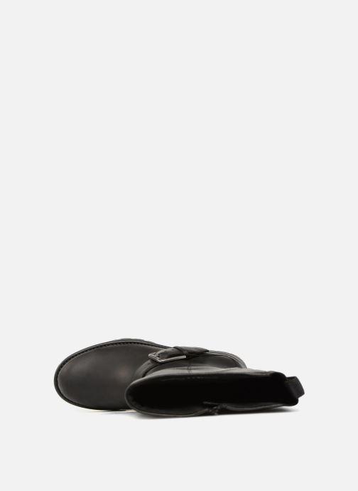 Stiefel Clarks Orinoco Jazz schwarz ansicht von links