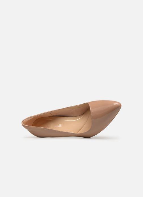 Zapatos de tacón Clarks Laina Rae Beige vista lateral izquierda
