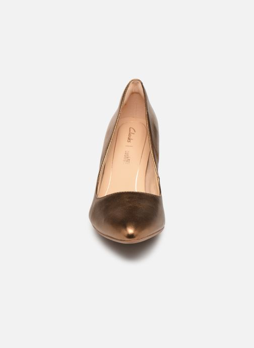 Escarpins Clarks Laina Rae Or et bronze vue portées chaussures