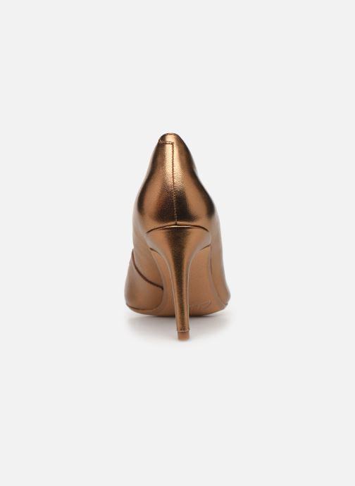 Zapatos de tacón Clarks Laina Rae Oro y bronce vista lateral derecha
