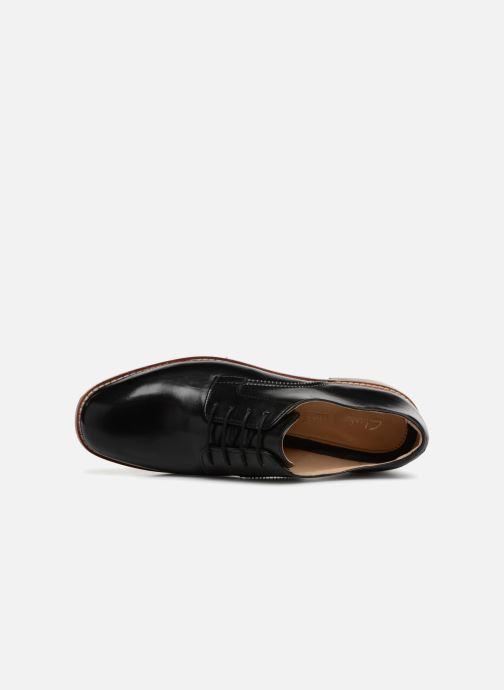 Snörade skor Clarks Ellis Scarlett Svart bild från vänster sidan