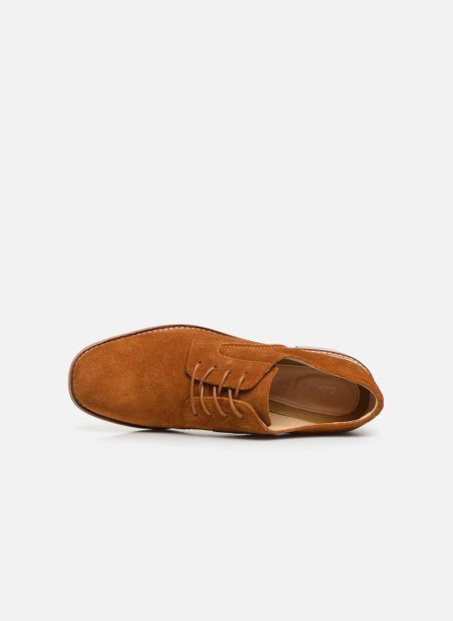 Zapatos con cordones Clarks Ellis Scarlett Amarillo vista lateral izquierda