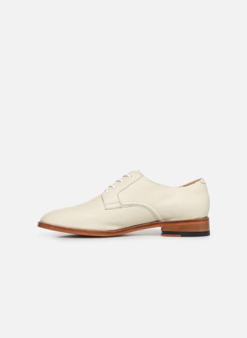 Chaussures à lacets Clarks Ellis Scarlett Blanc vue face
