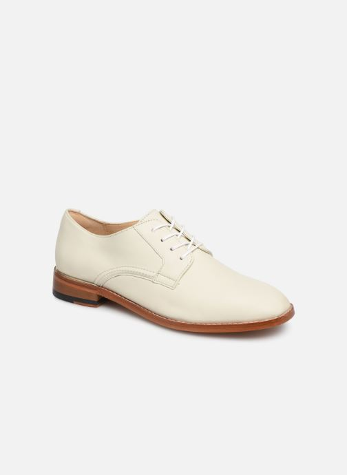 Lace-up shoes Clarks Ellis Scarlett White detailed view/ Pair view