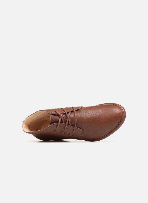Bottines et boots Clarks Spiced Charm Marron vue gauche