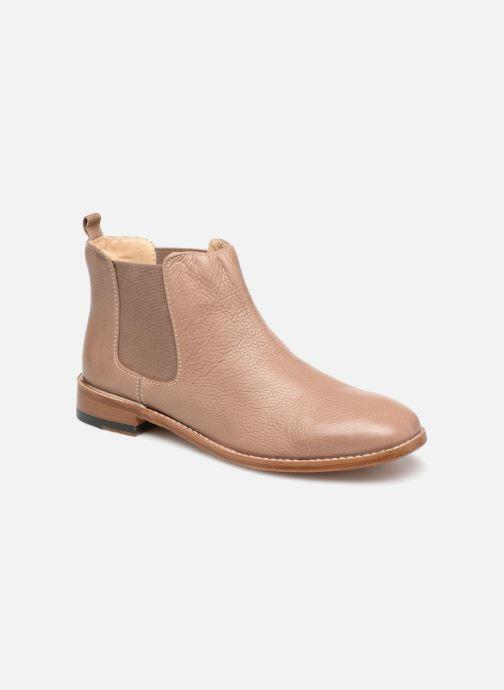 Bottines et boots Clarks Ellis Amber Beige vue détail/paire