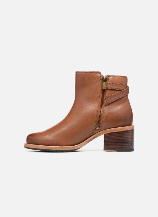 Boots en enkellaarsjes Clarks Clarkdale Jax Bruin voorkant