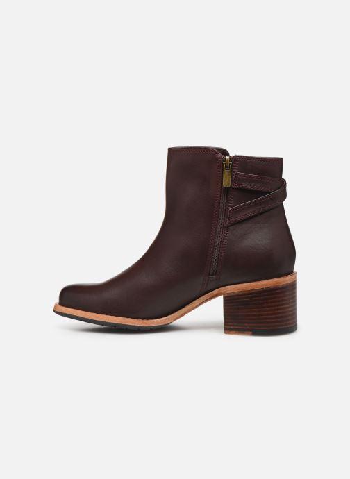 Bottines et boots Clarks Clarkdale Jax Bordeaux vue face