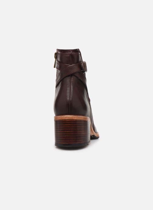 Bottines et boots Clarks Clarkdale Jax Bordeaux vue droite
