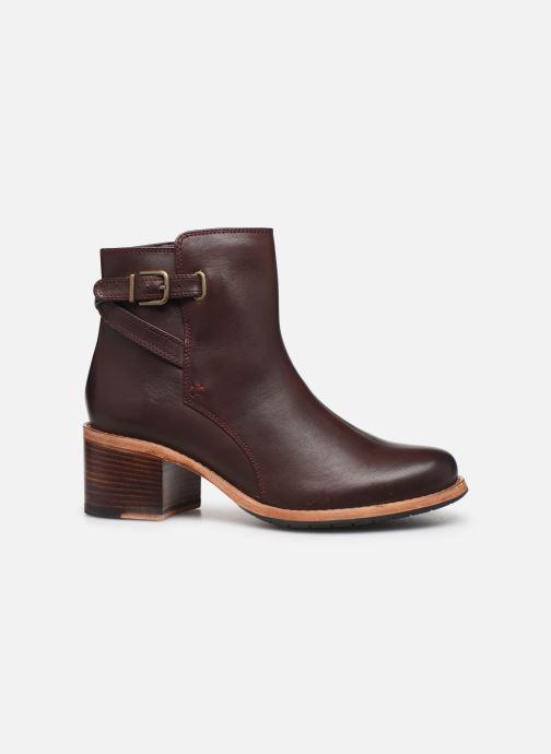 Bottines et boots Clarks Clarkdale Jax Bordeaux vue derrière