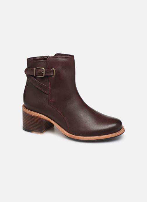 Bottines et boots Clarks Clarkdale Jax Bordeaux vue détail/paire