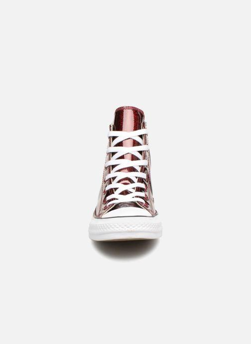 Baskets Converse Chuck Taylor Hi W Bordeaux vue portées chaussures