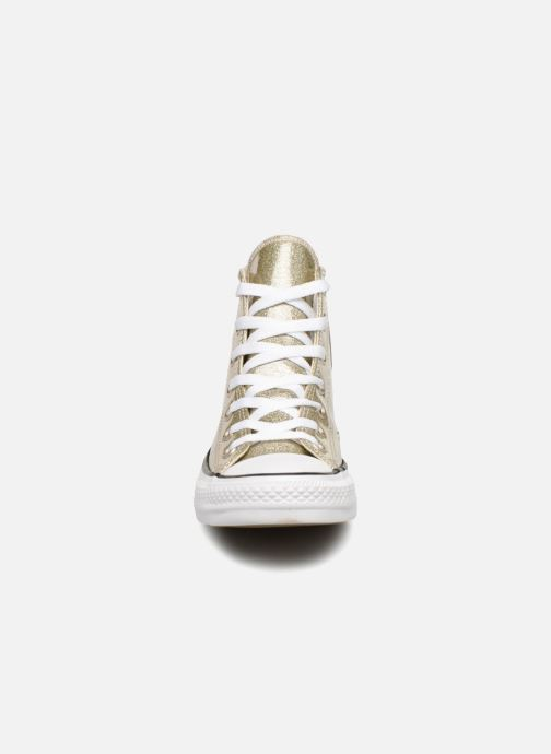 Sneakers Converse Chuck Taylor Hi W Oro e bronzo modello indossato