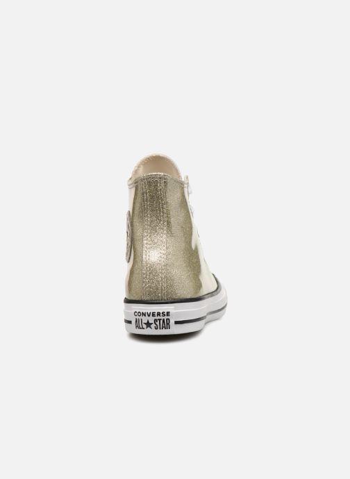 Sneakers Converse Chuck Taylor Hi W Oro e bronzo immagine destra