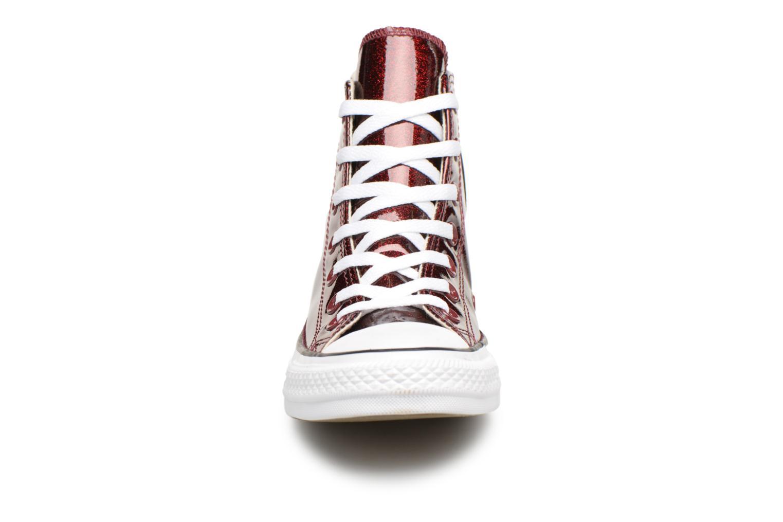 Sneakers Converse Chuck Taylor Hi W Bordò modello indossato