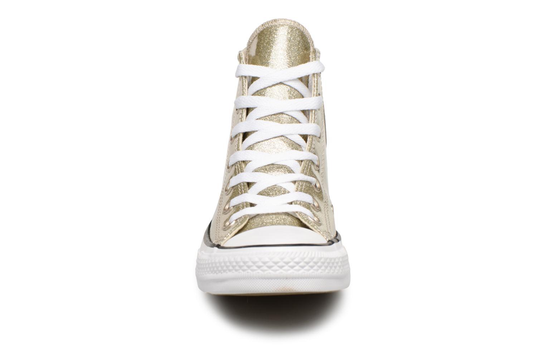 Baskets Converse Chuck Taylor Hi W Or et bronze vue portées chaussures