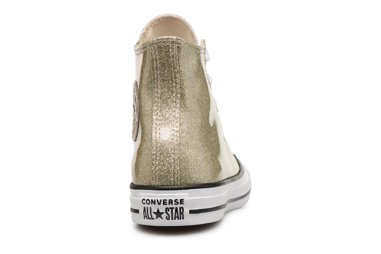 Baskets Converse Chuck Taylor Hi W Or et bronze vue droite