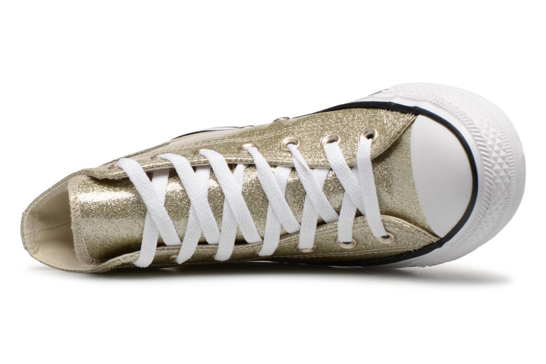 Sneakers Converse Chuck Taylor Hi W Oro e bronzo immagine sinistra